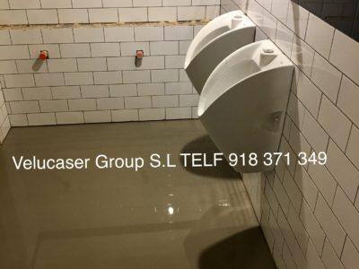 mortero autonivelante baños